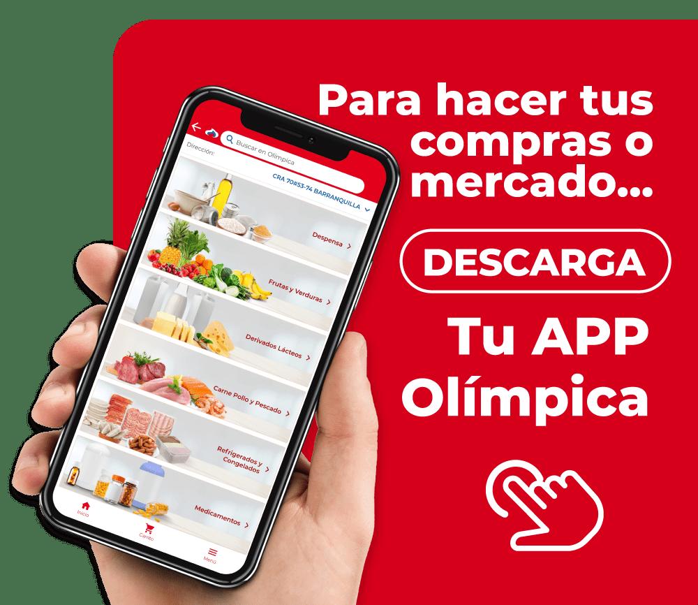Descarga tu app Olímpica