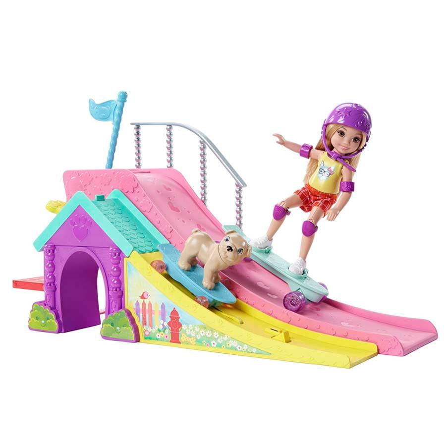 Barbie-Club-Chelsea-Pista-De-patin