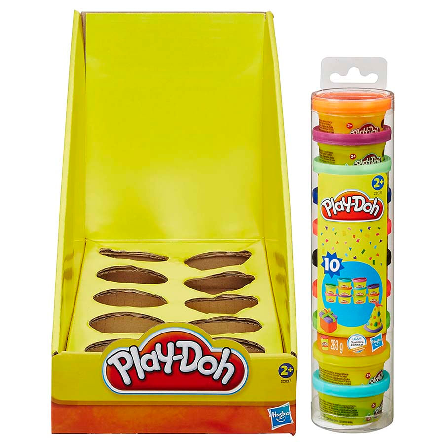 Play-Doh-Mini-Empaque-Fiesta-En-Tubo-X-10