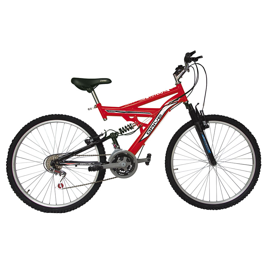 Bicicleta-DRIVE---Doble-suspension---18-Vel---26--Rojo
