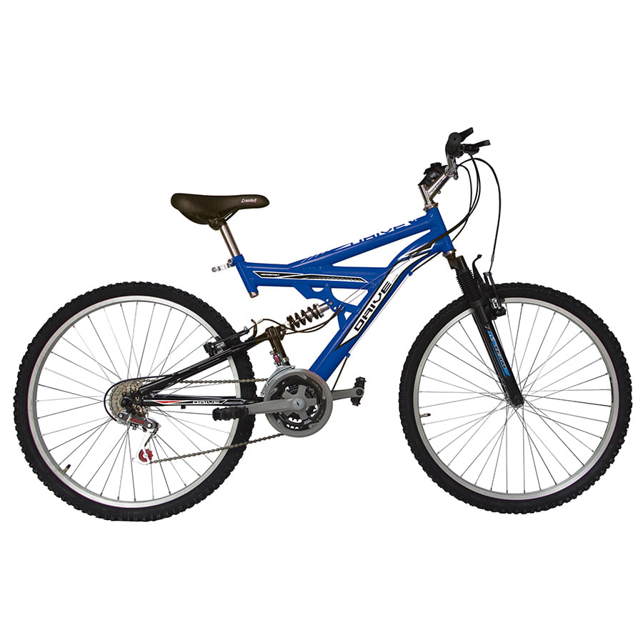 Bicicleta-DRIVE---Doble-suspension---18-Vel---26--Azul