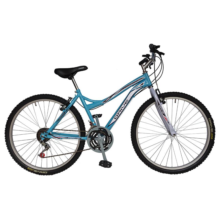 Bicicleta-DRIVE---Acero---18-Vel----Dama-26--Azul
