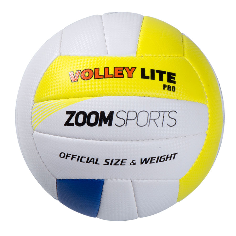 Balon---ZOOM---Volley-Lite---Amarillo---Azul