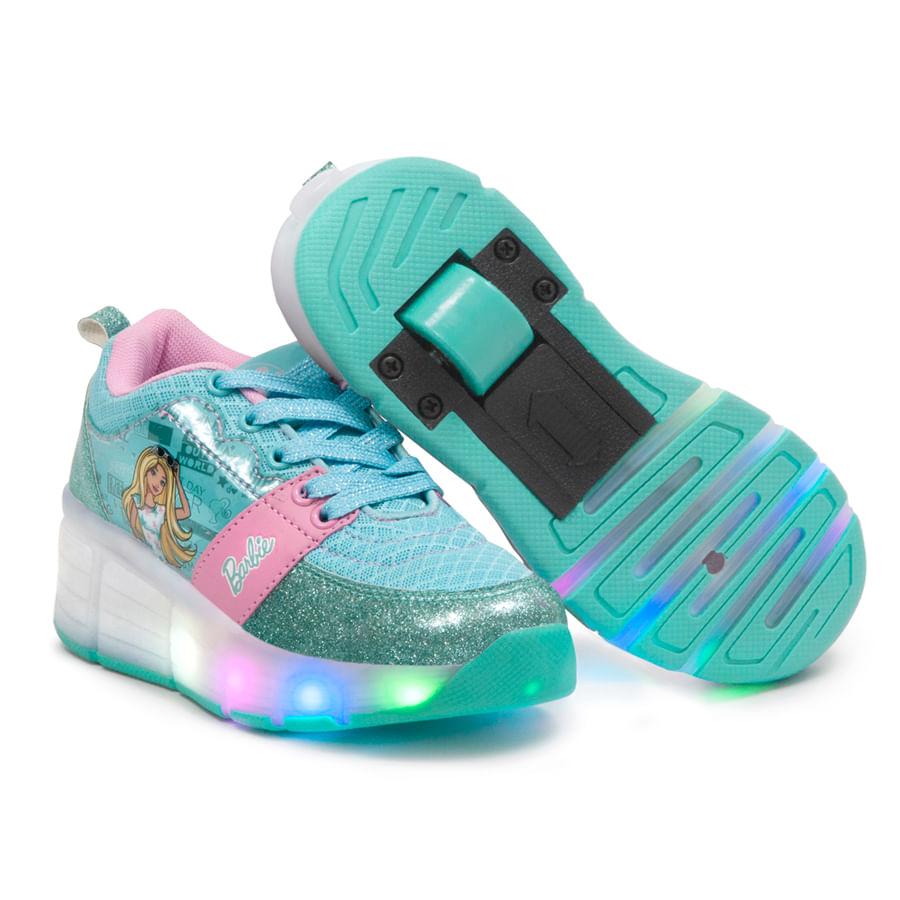 Zapatos-ZOOM----Ruedas-Barbie-Talla-32----Azul