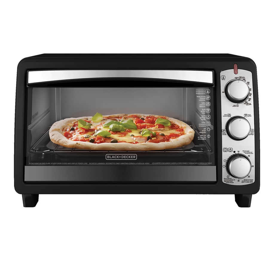 Horno el ctrico con convecci n black decker to1940bd for Horno electrico black decker