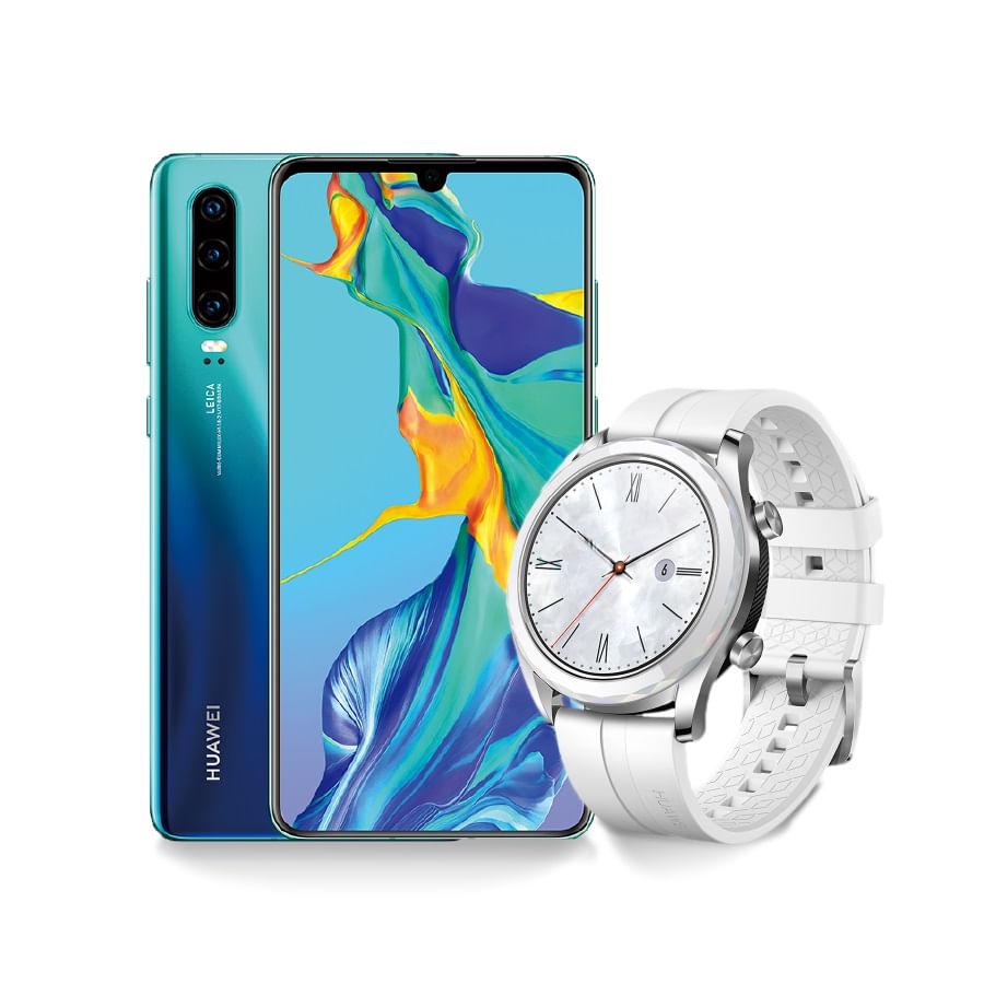 Celular-HUAWEI-P30---Aurora---Watch--GT-Elegant-White--128-GB