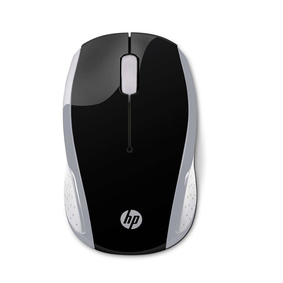 Mouse-HP-200-Negro-PLATA