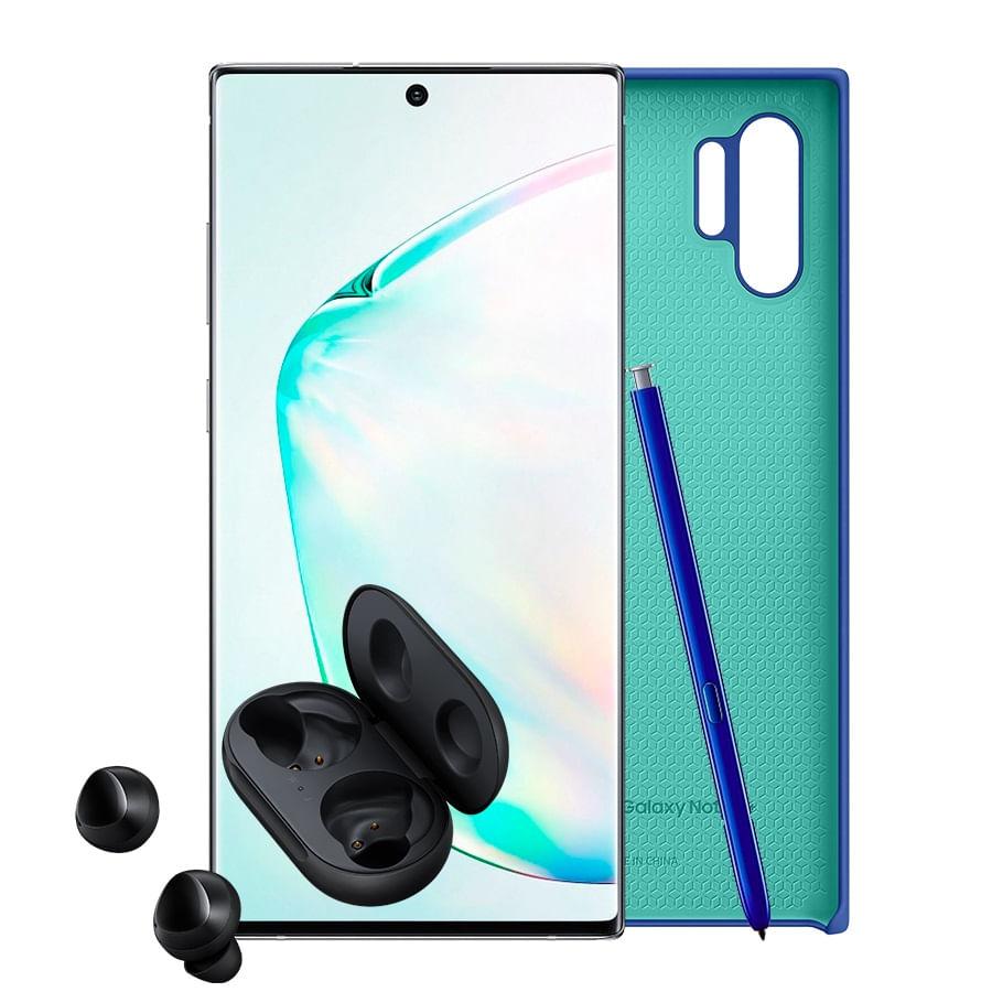 Celular-SAMSUNG-Galaxy-Note-10---256GB---Silver---CASE---BUDS