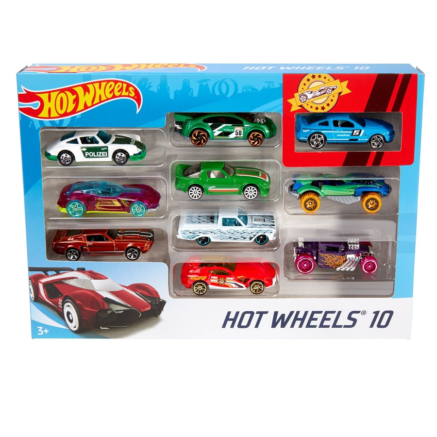 Hot-Wheels-Paquete-De-10-Autos