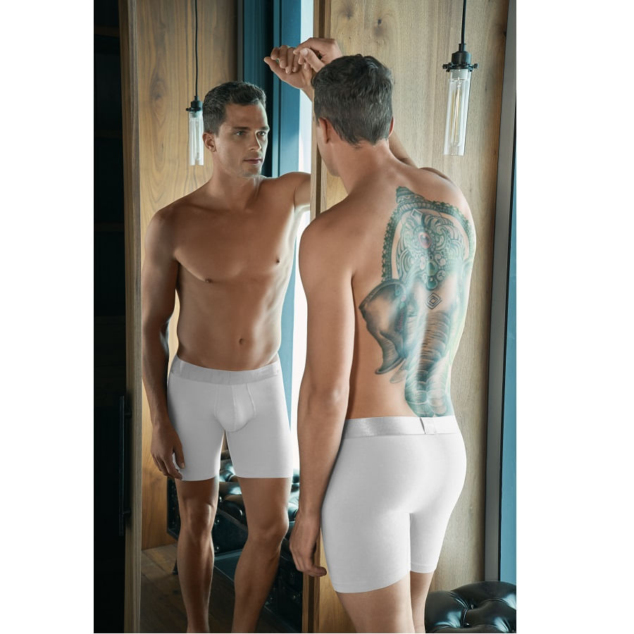 Boxer-largo-ST-EVEN-24044-Blanco-Talla-M--Liso