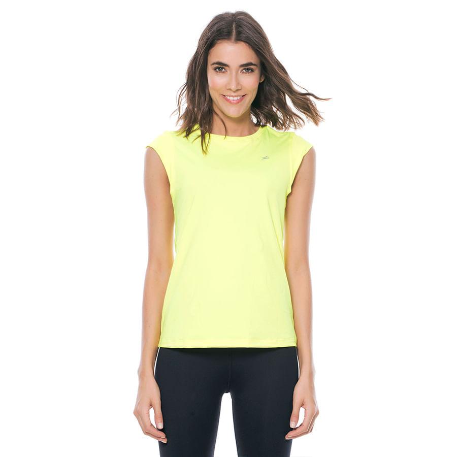 Camiseta-ST-EVEN--65653-Verde-Neon--Talla-S--Liso