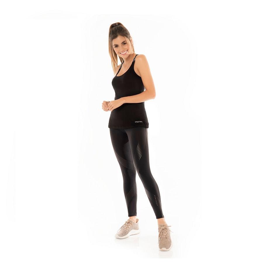 Camiseta-CHAMELA--25803-Negro--Talla-M--Liso