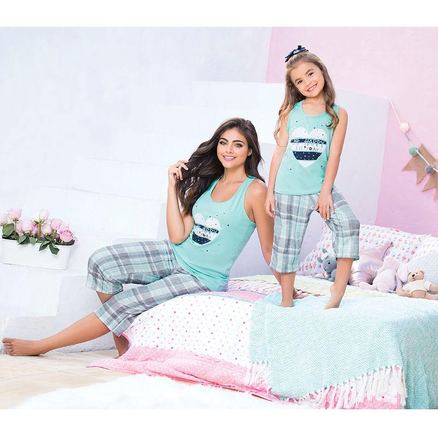 Pijama-capri--PROVOCAME--Estampado-Cuadros-Talla-M