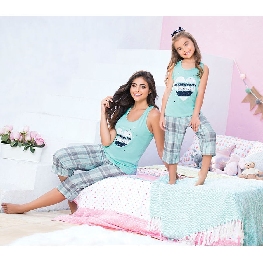 Pijama-capri--PROVOCAME--Estampado-Cuadros-Talla-L