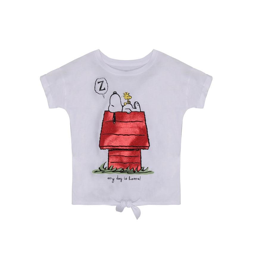 Camiseta-SNOOPY--My-dog-is-home-Talla-10