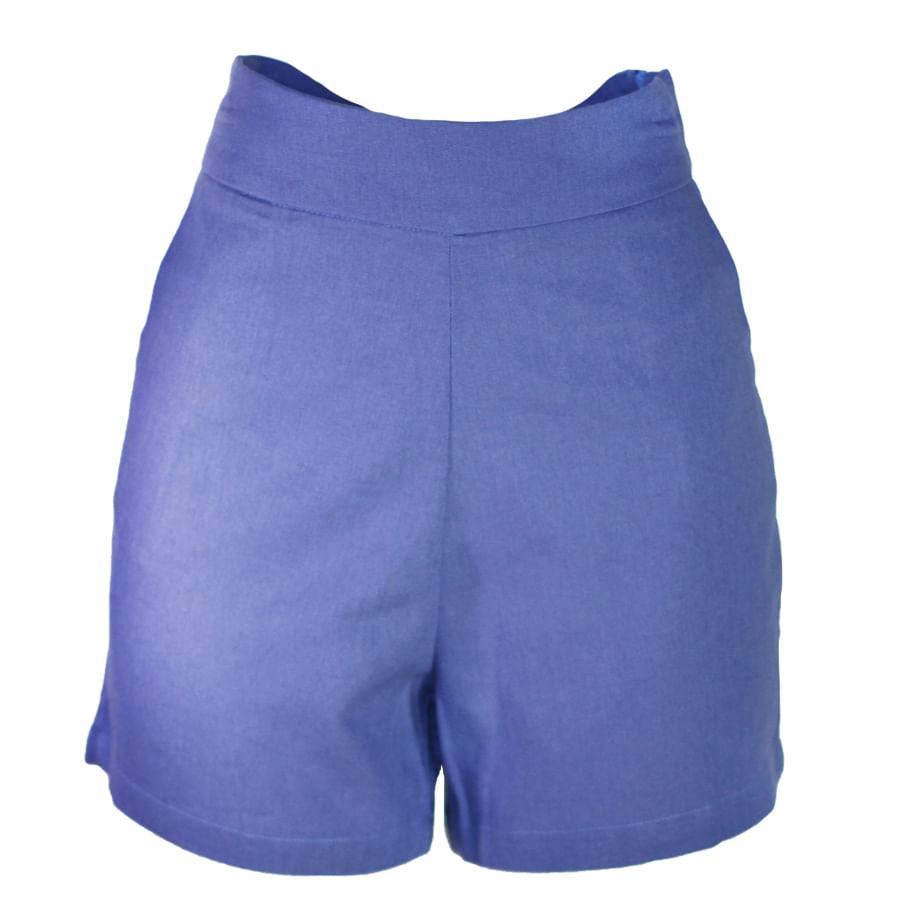 Shorts-de-lino-Azul-Talla-14