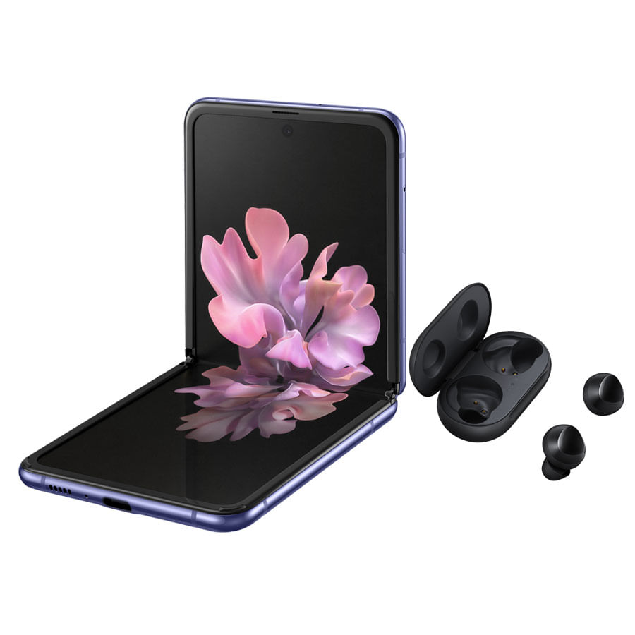 Celular-SAMSUNG-Galaxy-ZFLIP---Purlple---Galaxy-Buds---Black