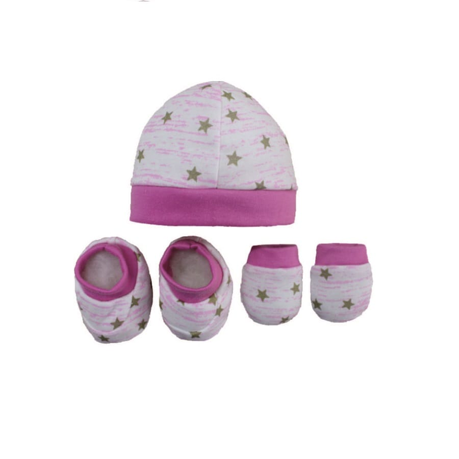 Set-Gorro-Escarpines-Manoplas-DAKOTA-Estrellas