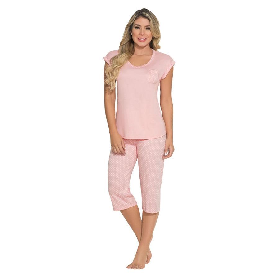 Pijama-Capri-Puntos-Coral-Talla-M