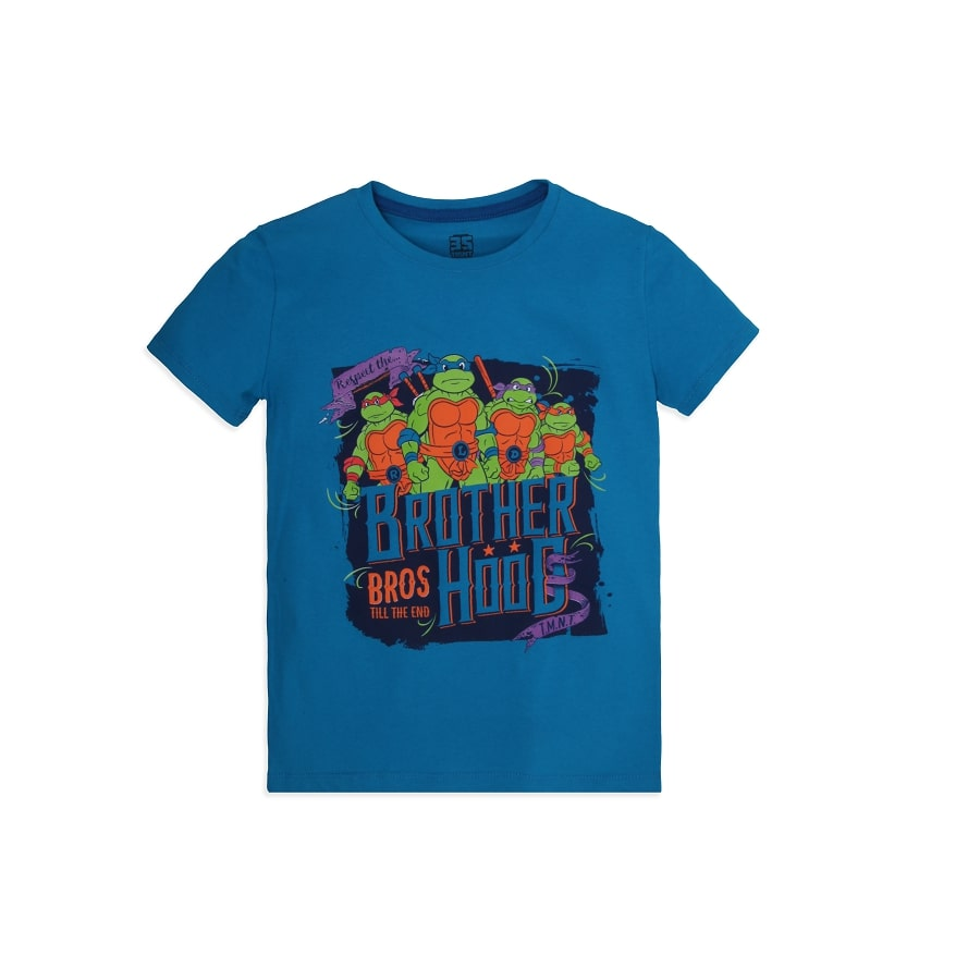 Camiseta--TORTUGA-NINJA-Talla-6---Estampada-Azul