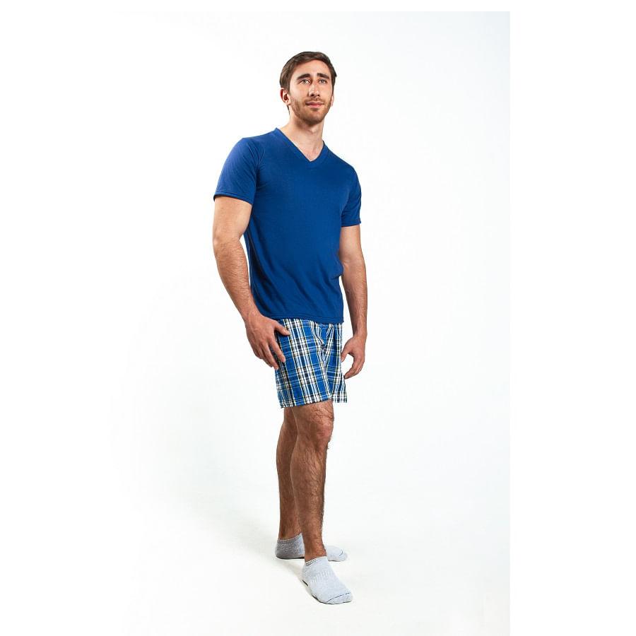 Pijama-M-C-P-C-ROMANELLA-CAMILO-Azul--Talla-XL--Liso