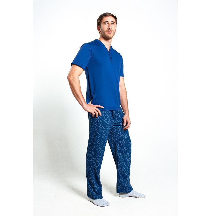 Pijama-M-C-P-L-ROMANELLA-CRISTIAN--Azul--Talla-M--Liso