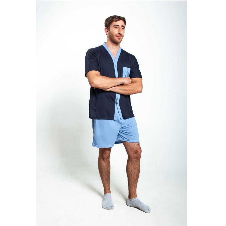 Pijama-M-C-P-C-ROMANELLA-TOMAS-Azul--Talla-L--Liso
