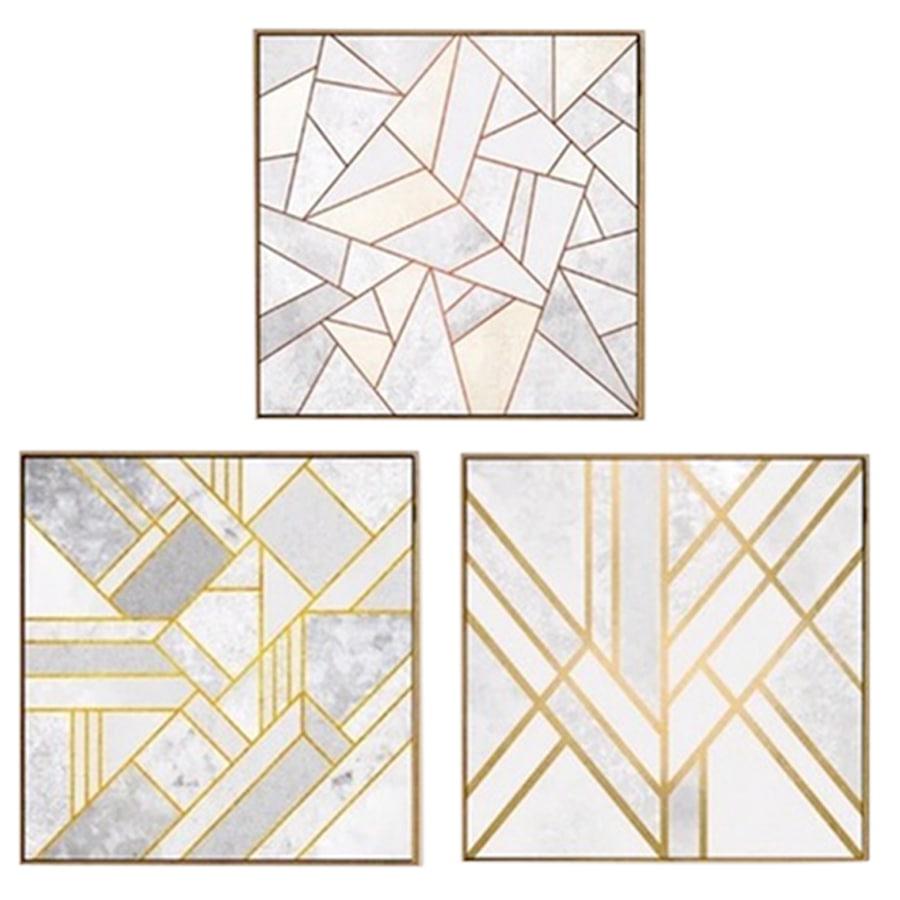 Cuadro--Decorativo-H-H--40-x-40-x-15Cm---Dorado-C-U