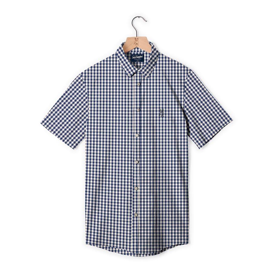 Camisa-JACK-SUPPLIES-de-Cuadros--Azul--TallaM