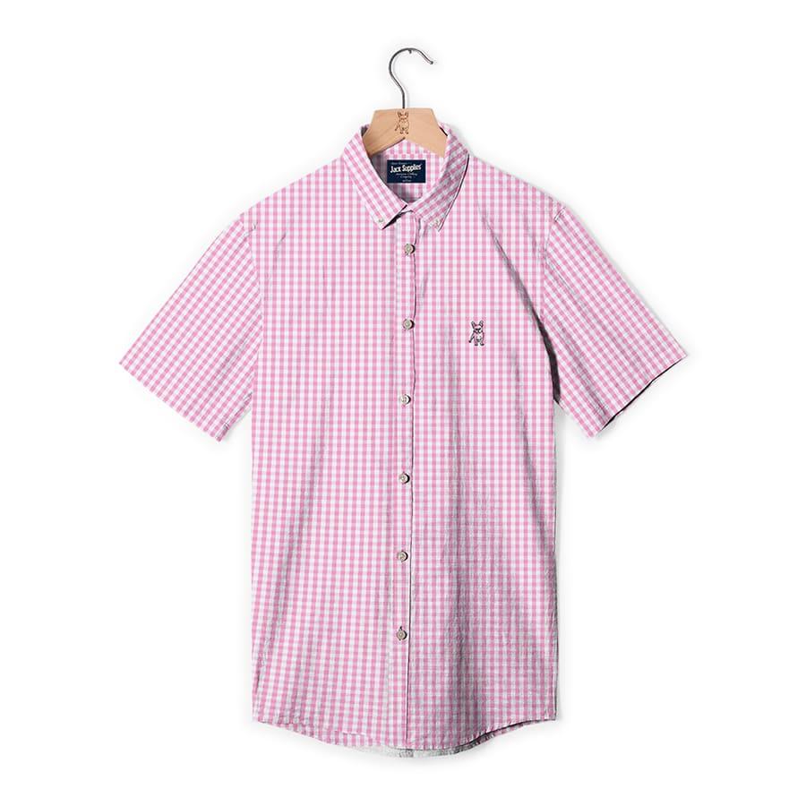 Camisa-Manga-Corta-JACK-SUPPLIES--Rosa-Talla-L