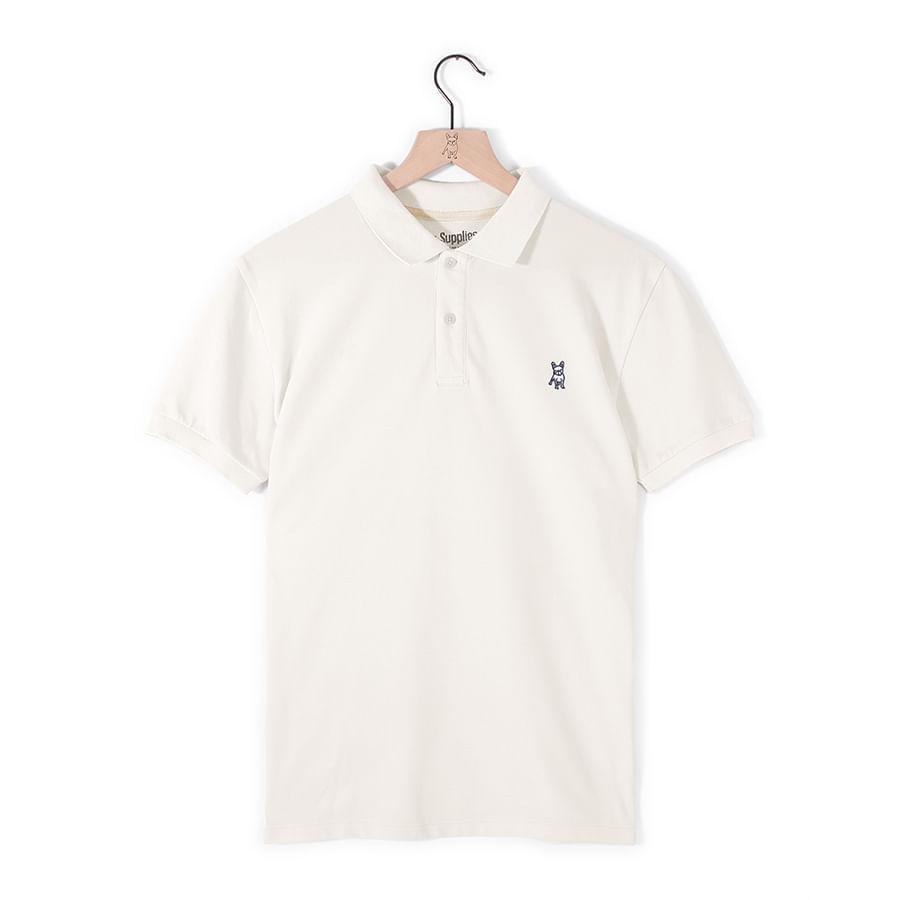 Camiseta-Tipo-Polo--JACK-SUPPLIES-Lisa--Blanco--Talla-XL