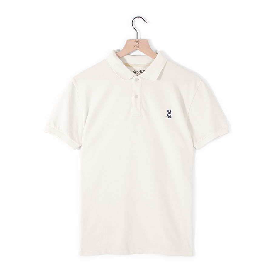 Camiseta-Tipo-Polo--JACK-SUPPLIES-Lisa--Blanco--Talla-L