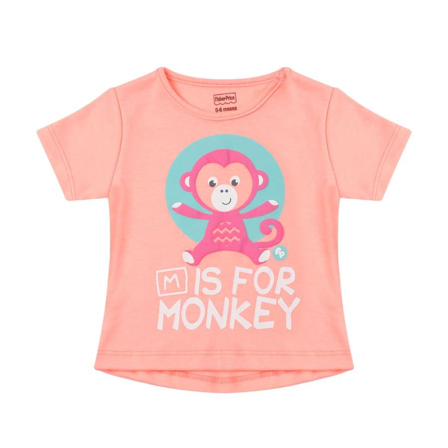 Camiseta-FISHER-PRICE-M-For-Monkey-Talla-4T