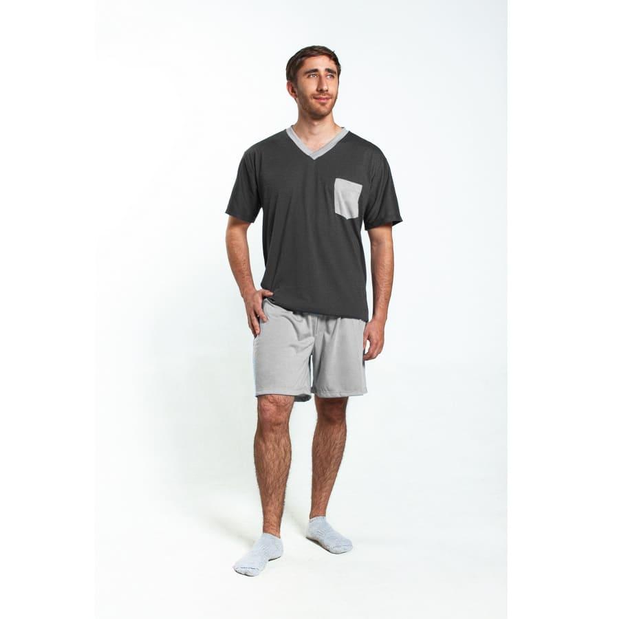 Pijama-Camisa-con-bolsillo-y-Pantalon-Corto-ROMANELLA-TallaM