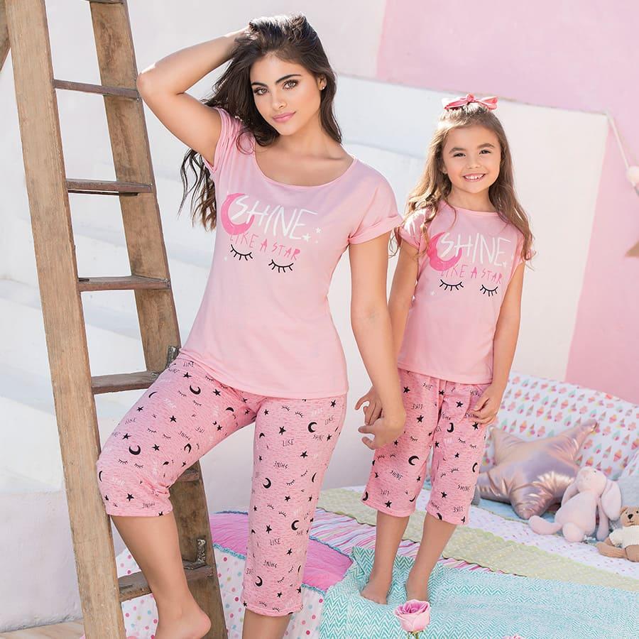 Pijama-capri-de-Mujer-PROVOCAME-Shine-like-a-Star-Talla-M