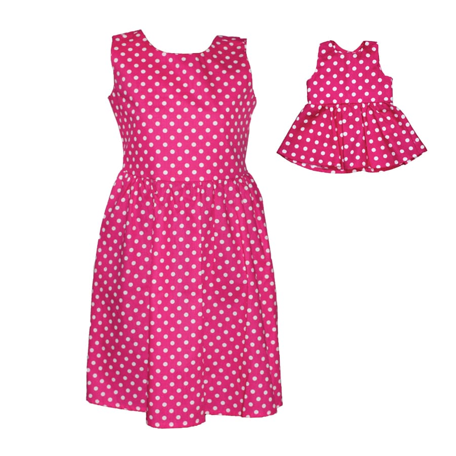Vestido-Polka-MI-MUÑECA-Y-YO-Rosado