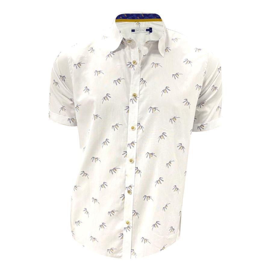 Camisa-BYOUNG-Manga-Corta-Estampado-Talla-S