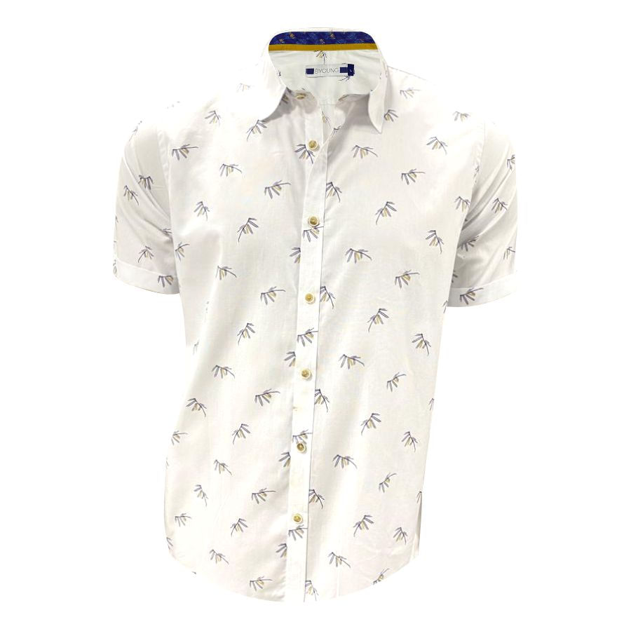 Camisa-BYOUNG-Manga-Corta-Estampado-Talla-M
