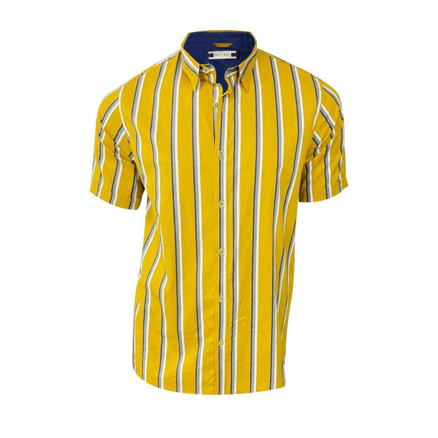 Camisa-BYOUNG-Maga-Corta-Rayas-Talla-L