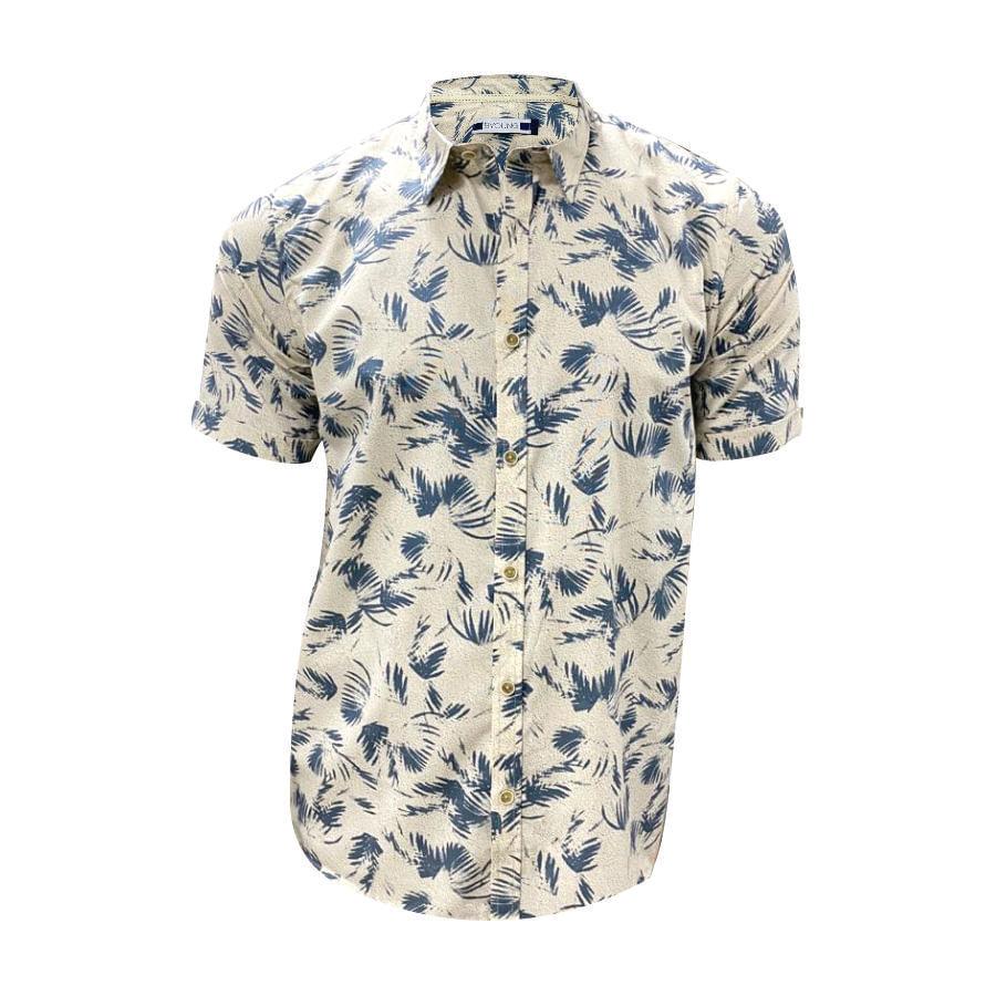 Camisa-BYOUNG-Botanical-manga-corta-estampado---S