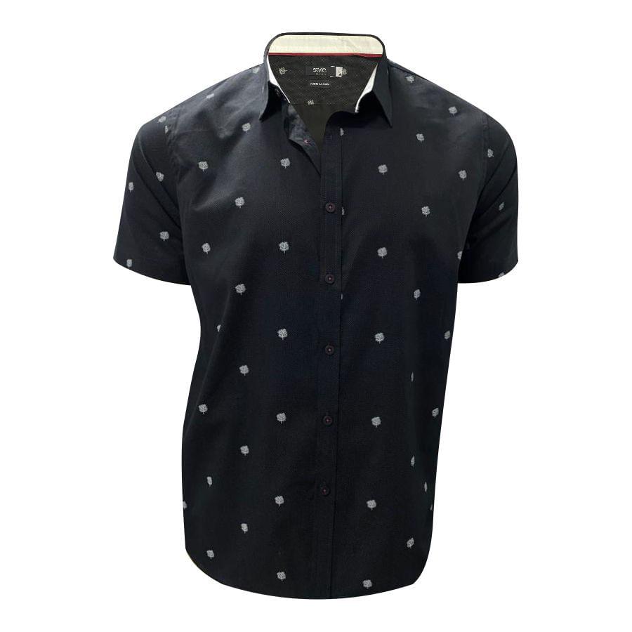 Camisa-STYLE-estampada-Mini-print--Negro--MMCC03298-L