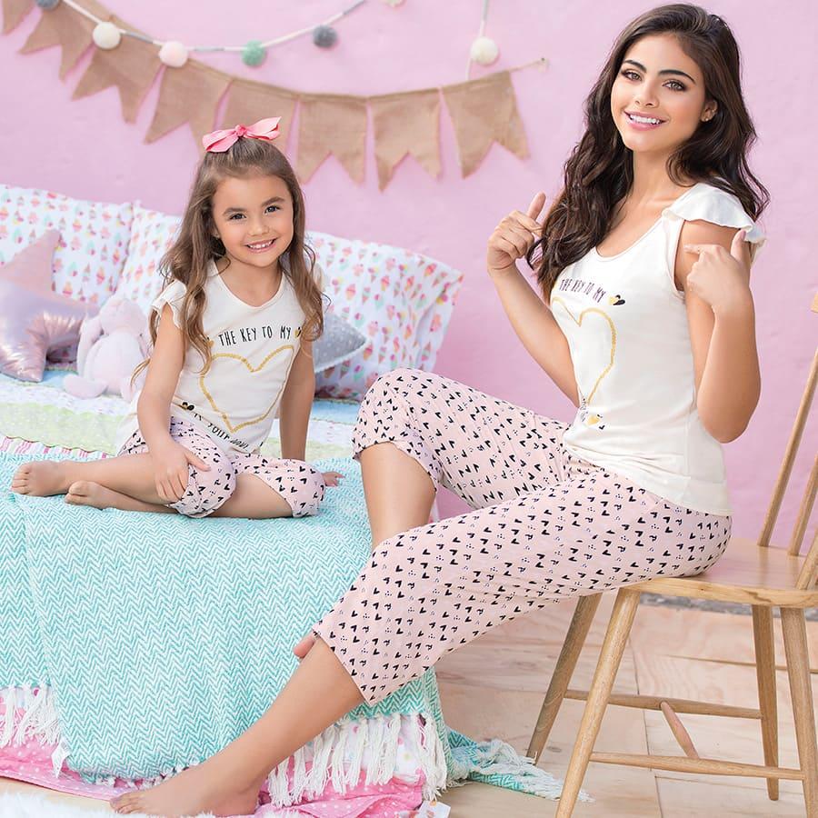 Pijama-Capri-Niña-PROVOCAME-Estampado-Corazon--Talla-6-8