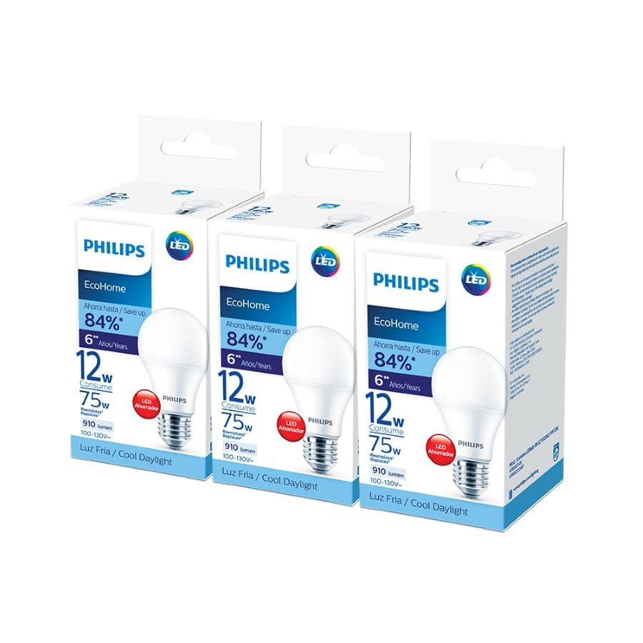 Bombillo-PHILIPS-Pack-x3---Led-12W---Luz-Fria