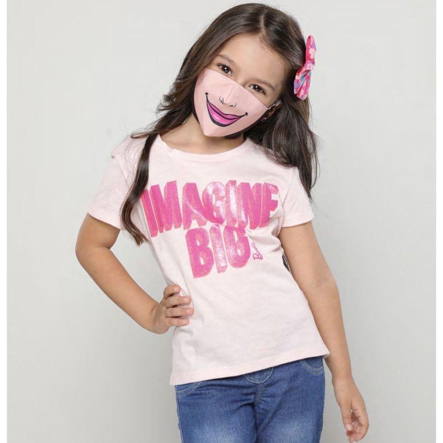 Camiseta---Tapabocas-BARBIE-Rosado-Talla-6