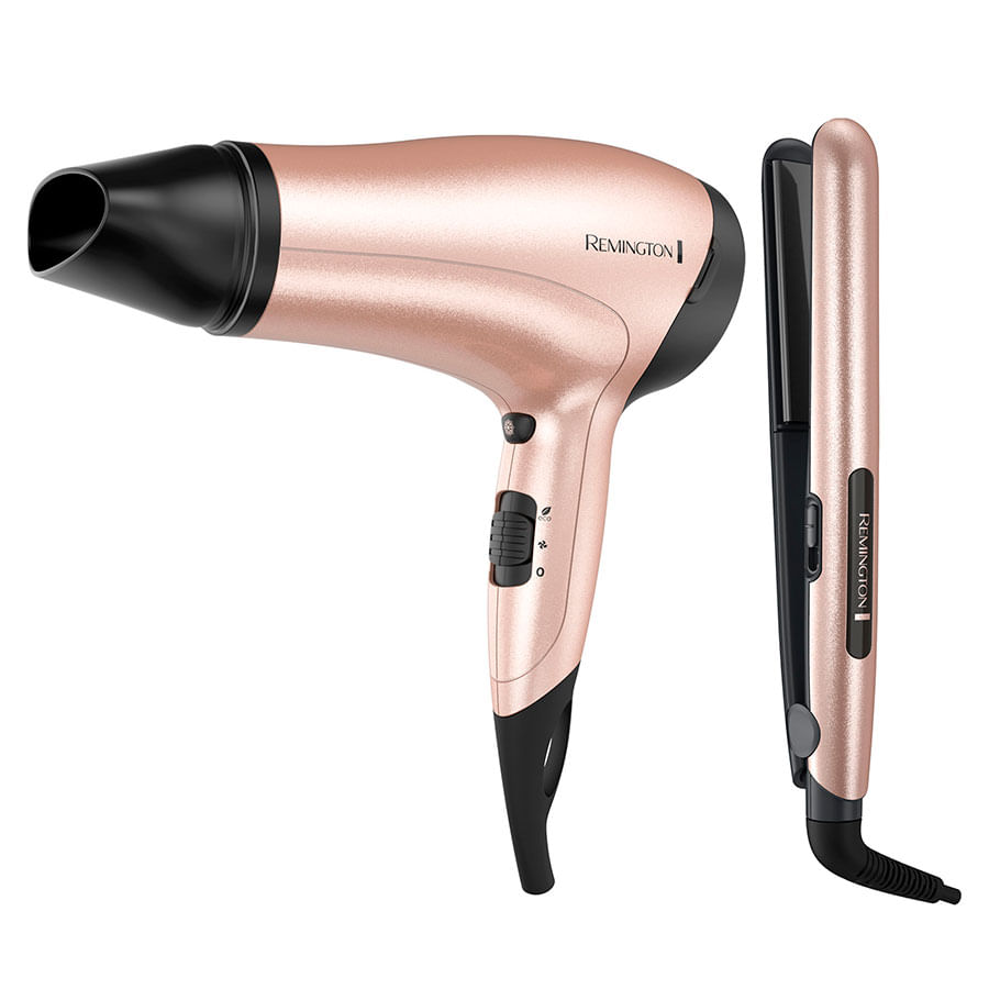 Combo-Plancha-REMINGTON-SECADOR-Rose-Gold