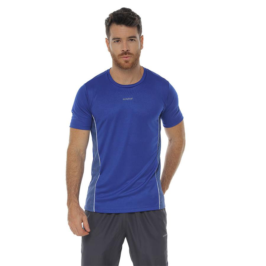 Camiseta-Deportiva-DAKOTA-con-franjas-laterales--Azul---Talla-M