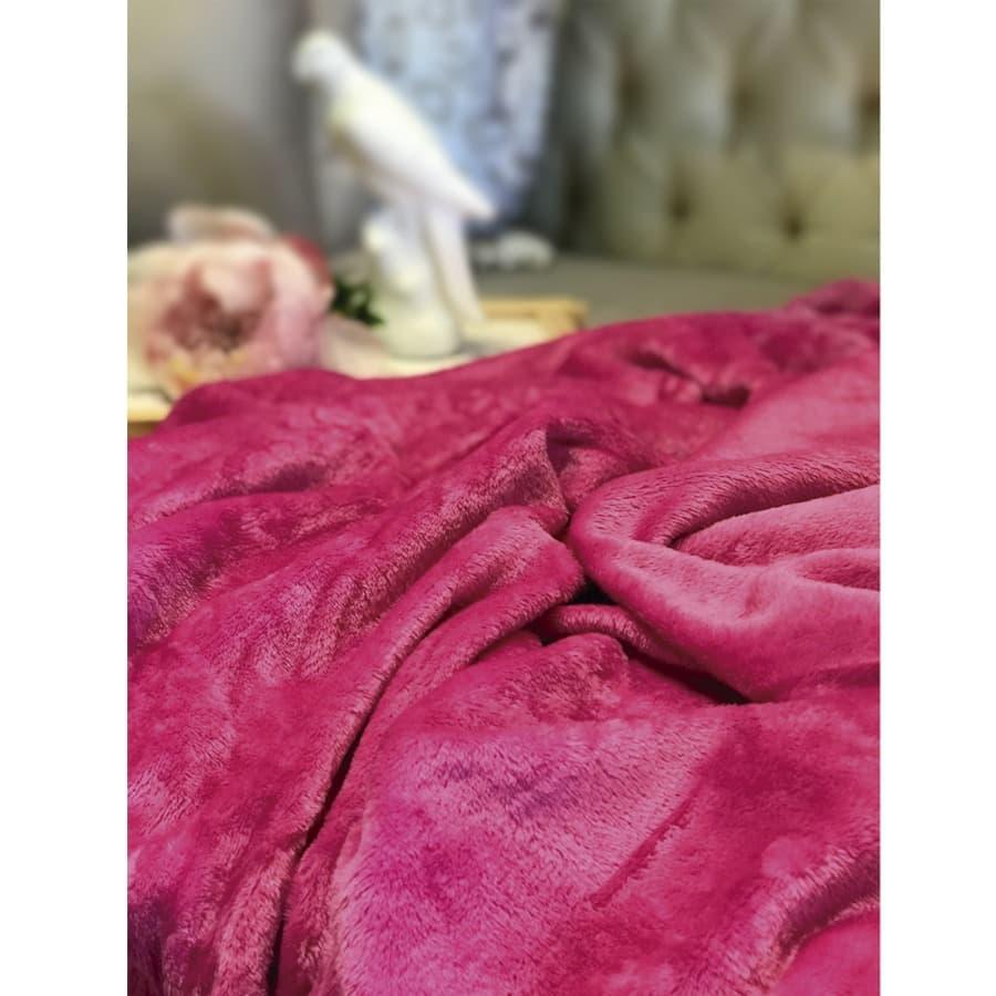 Cobija-SWEET-HOME-Fleece---100X150---180Gr---Magenta