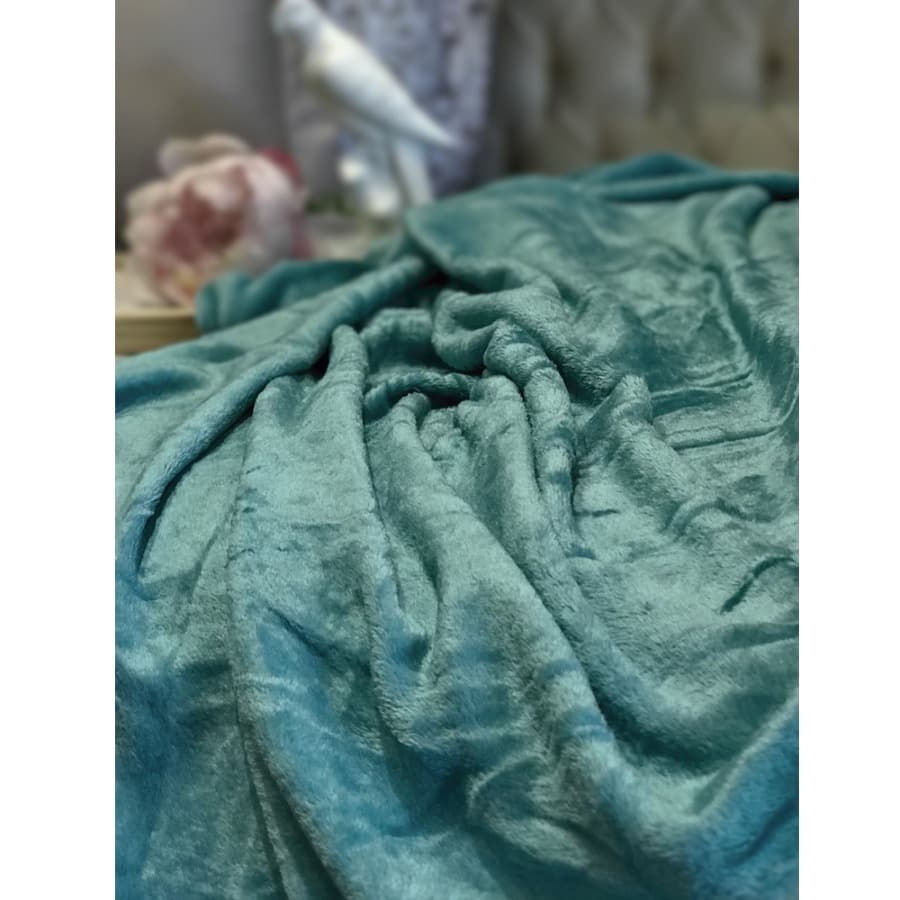 Cobija-SWEET-HOME-Fleece---100X150---180Gr---Turquesa