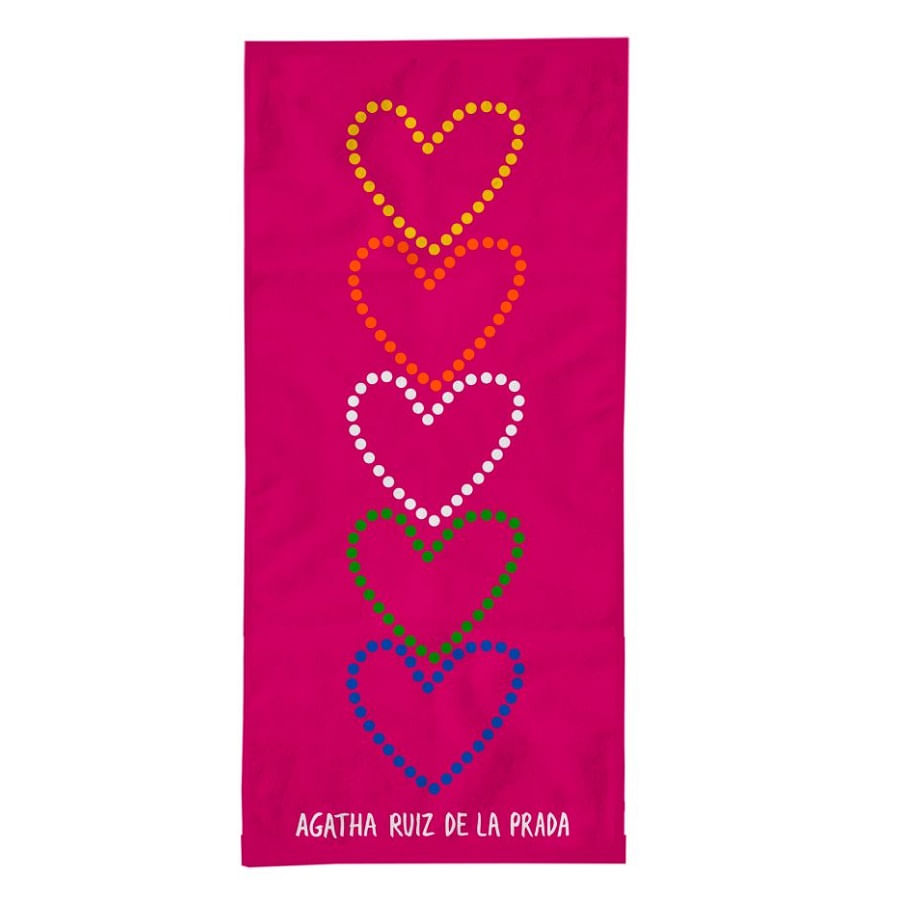 Toalla-DISTRIHOGAR-Agatha-Reactiva---60x130---100--Algodon---Corazones---Fuscia