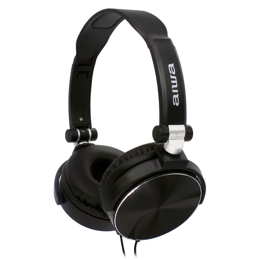 Auriculares-AIWA-On-Ear-Con-Microfono---AWX107B---Negro